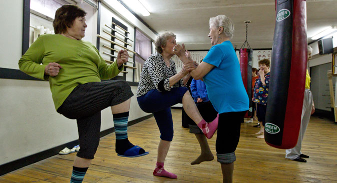 Fitness classes are just one of many new activities older women are embracing. Source: Yakov Andreev / RIA Novosti