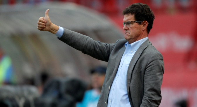 "Fabio Capello: ""As a coach, you should always be confident — or find another job."" Source: AP"