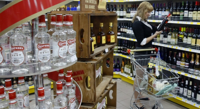 Young professionals in Moscow and St. Petersburg are increasingly switching from vodka to wine and beer. Source: ITAR-TASS