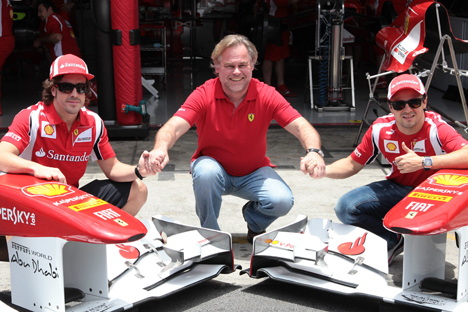 "Kaspersky Lab is the ""official sponsor"" of the Ferrari team at F1 races. Source: AFP / East News"