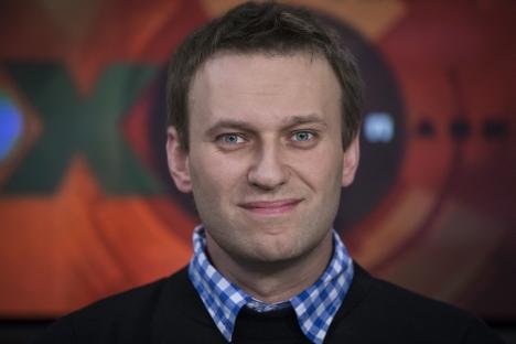 Blogueiro e ativista da oposição Aleksêi Naválni Foto: AP