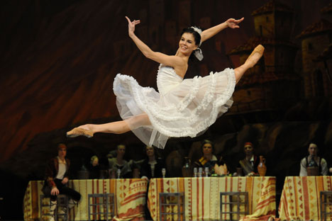 The Observer called ballerina Osipova 'Hurricane Natalia' after her dancing in Don Quixote. Source: Alastair Muir / Rex Features