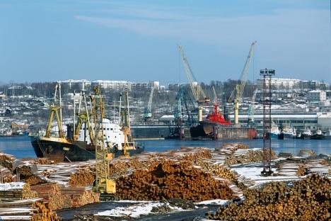O porto de Sovétskaia Gavan em Khabarovsk, no Extremo Oriente da Rússia Foto: RIA Nóvosti / Alexander Lyskin