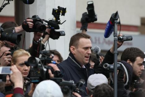 Putin-Gegner Alexej Nawalny fühlt sich aus schlichten politischen Gründen verfolgt. Foto: RIA Novosti