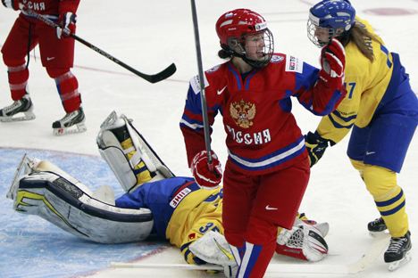 "Alexandra Vafina: ""We don't take our helmets off to fight"". Source: Reuters"