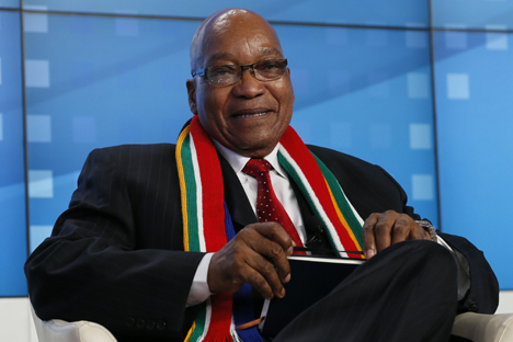 South African President Zuma Jacos was satisfied with the 2013 BRICS summit in Durban, South Africa. Source: Reuters