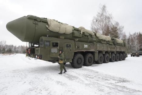 """Самооден ракетен комплекс РС-24 """"Јарс"""". Извор: РИА Новости / Виталиј Пјатаков."""