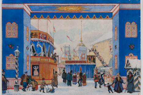 As a designer for the Ballets Russes under Serge Diaghilev, Benois's influence on the modern ballet and stage design is considered seminal. Source: Courtesy of St. Petersburg Gallery in London