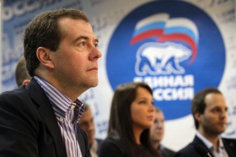 """Em entrevista ao jornal """"Komsomolskai Pravda"""", premiê Dmítri Medvedev falou sobre imigração e dificuldades para garantir o progresso do país Foto: ITAR-TASS"""