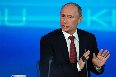 "President Vladimir Putin charted a course to ""nationalize the elites"". Source: ITAR-TASS"