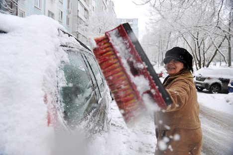 This year Moscow had snowiest winter in 100 years. Source: Vladimir Pesnya / RIA Novosti
