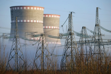 Water-cooling towers at the Kalinin Nuclear Power Plant. Source: ITAR-TASS / Vladimir Smirnov