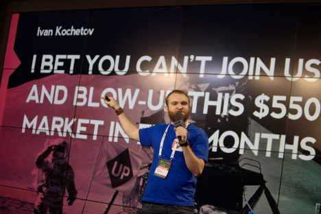 The Promise UP team plans to earn $1 million in just two years. Pictured: Ivan Kochetov, the founder of  The Promise UP startup. Source: Promise Up