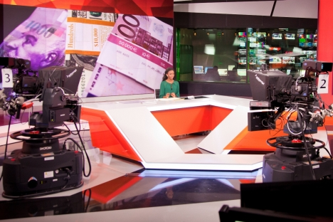 The RT TV channel is expanding its international presence to produce more exclusive materials aimed specifically for outside distribution. Pictured: A new studio of RT. Source: RT