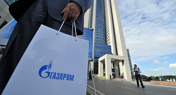Gazprom's low price-to-earnings ratio turns its shares into an attractive investment asset. Source: RIA Novosti