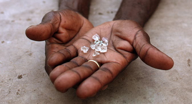 Russia's diamond giant ALROSA is going to step up its collaboration with its African counterparts. Source: Reuters