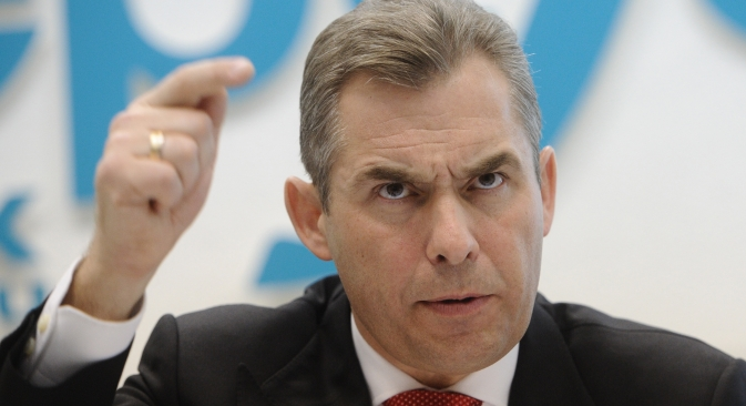 Russian Children's rights ombudsman Pavel Astakhov is concerned with a recent case of Polina Lykho who has had her 6-week-old daughter Viktoria separated from her in New Zealand. Source: ITAR-TASS