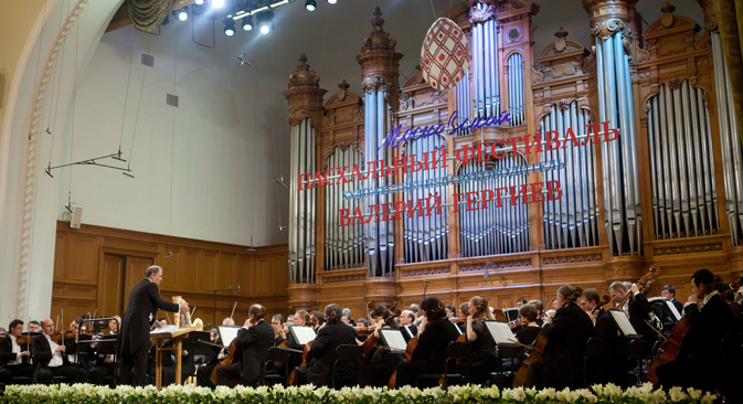 The Moscow's Easter Festival is held under the direction of conductor Valery Gergiev (L). Source: ITAR-TASS