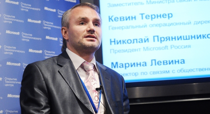 in 2011, Microsoft Russia President Nikolay Pryanishnikov reached an agreement with Russian Deputy Prime Minister Dmitry Kozak making Microsoft the official software supplier to the Sochi Olympics. Source: ITAR-TASS