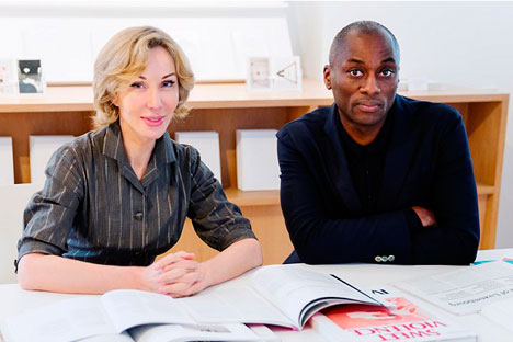 Editor-in-chief Ekow Eshun has been director of London's Institute of Contemporary Arts and editor of Arena and other magazines. Founder and director of the Calvert Foundation Nonna Materkova is an economist from St. Petersburg. Source: Press photo