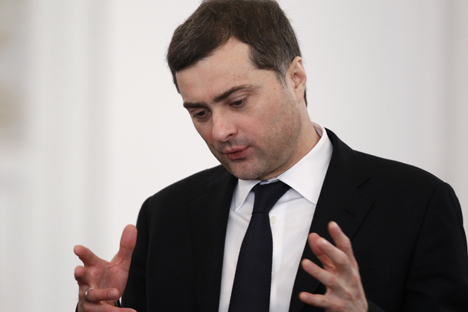 "Surkov cited ""a practically unencumbered registration of political parties."" . Source: Reuters"
