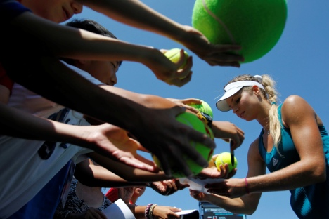 "Maria Kirilenko: ""It's my time now"". Source: Reuters"
