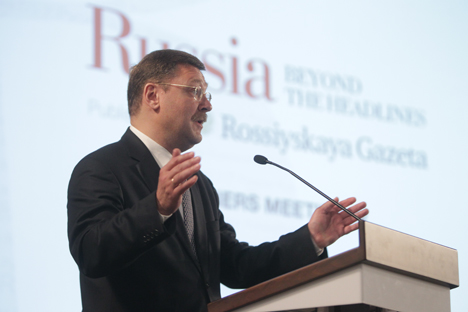 "Konstantin Kosachev: ""The era of diplomats and summits may be replaced by a dialogue of different cultures and nations"". Source: Sergey Savostianov / RG"