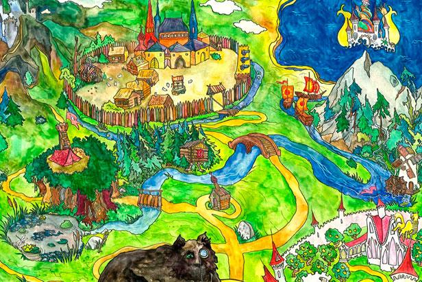 RBTH introduces the map of Magical Kingdom. Source: Anna Perepechenova