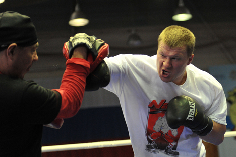Alexander Povetkin is the two-time European champion and the regular WBA world champion. Source: Vladimir Pesnya / RIA Novosti