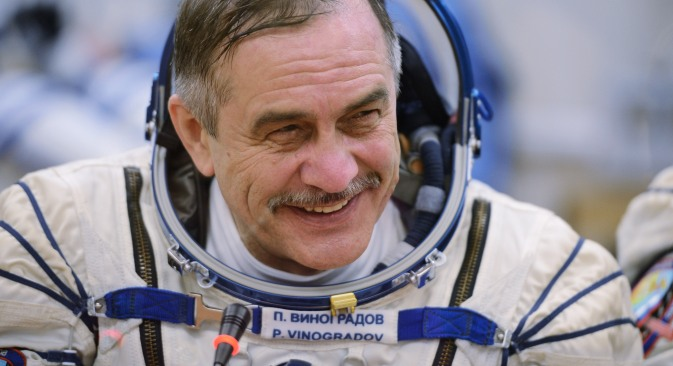 Pavel Vinogradov is the current commander of the International Space Station. Source: Ramil Sitdikov / RIA Novosti