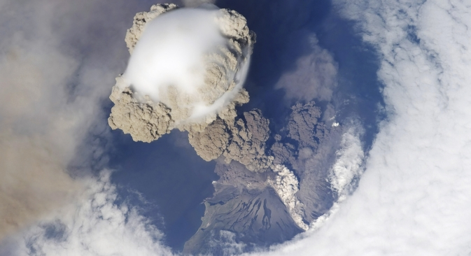 Sakhalin's Sarychev Peak is one of Russia's most active volcanoes. The most recent eruption of the volcano was recorded in 2009. Source: Lori / Legion Media