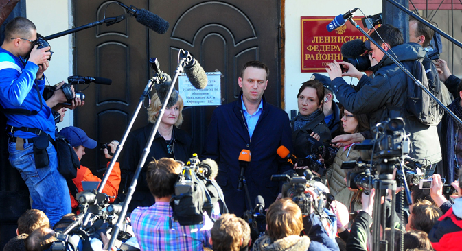 Navalny has denied all charges against him and maintains that he has been framed by the Investigative Committee. Source: ITAR-TASS