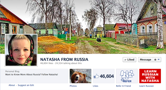 Natasha From Russia Facebook page scored over 45,000 likes. Source: Facebook / Natasha From Russia