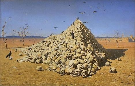 Vasily Vereshchagin 'Apotheosis of War' (1871). Source: State Tretyakov Gallery / Wikipedia.org