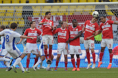 "The Russian Premier League 2011/12. The match between Moscow teams ""Spartak"" and ""Dynamo"". Source: Kommersant"