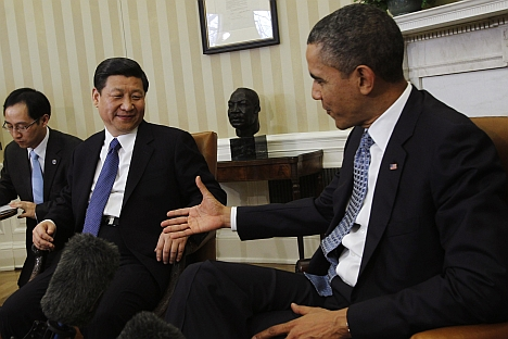 U.S. President Barack Obama and his Chinese counterpart Xi Jinping try to find common ground. Source: Reuters