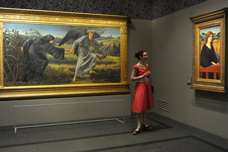 The Pre-Raphaelites exhibition came to Moscow after being shown in London and Washington. Source: ITAR-TASS