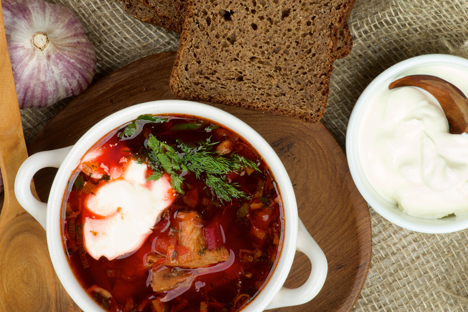 Borscht is an immortal classic, a symbol, and the face of Russian cuisine.Source: FotoImedia