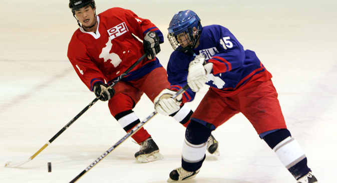 Ice hockey is only taking its first steps in many of the Asian countries. Source: AP