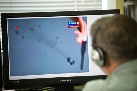 Acidente com Proton-M foi televisionado pelo canal Rossyia 24 no último dia 2 Foto: AFP / East News
