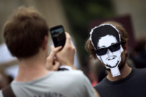 Russische Unternehmen wollen sich Rechte am Gesicht des ehemaligen NSA-Agenten Edward Snowden sichern. Foto: Reuters
