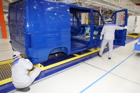 Production of dual-purpose vehicles of FIAT brand in the territory of special economic zone Alabuga. Source: ITAR-TASS/Vitaly Belousov