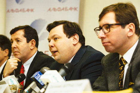 The Alfa-bank trio. From left to right: Alex Knaster, Mikhail Fridman, Petr Aven. Source: PhotoXpress