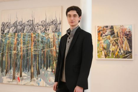 Shpanin, who in some ways resembles the actor Daniel Radcliffe, has been attending the Surikov Art Institue as an American Fulbright Scholar. Source: Press Photo