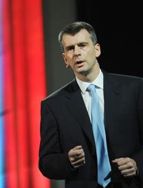 The billionaire Mikhail Prokhorov