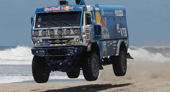 KAMAZ drivers overcome disasters to sweep the podium at Dakar