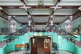 Modernist architecture in a simple Russian school