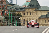 Formula 1 cars on Moscow roads