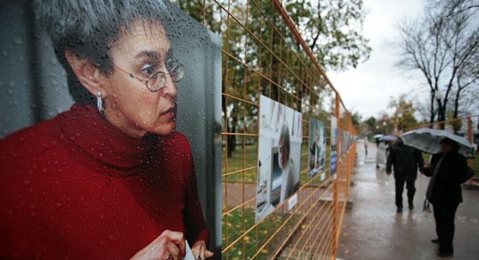 Anna Politkovskaya was killed in 2006. Source: Sergei Savostyanov / Rossiyskaya Gazeta