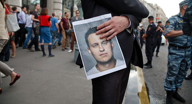 'Alexei Navalny: From blogs to unquestionable leaders,' bloggers write. Source: Ruslan Sukhushin